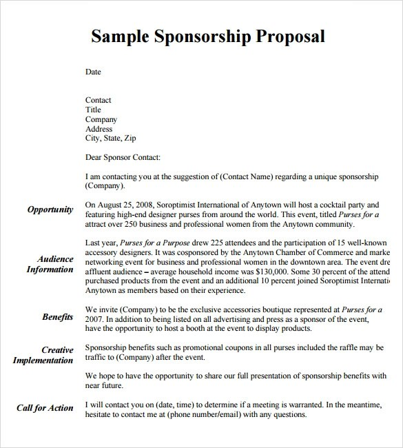 example of a sponsorship proposal - Minimfagency