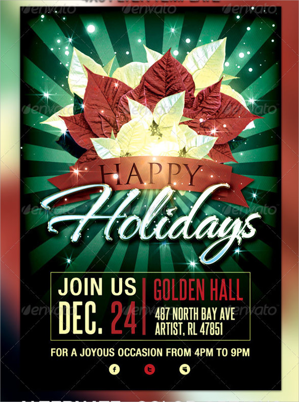 10+ Amazing Holiday Party Flyer Templates Sample Templates