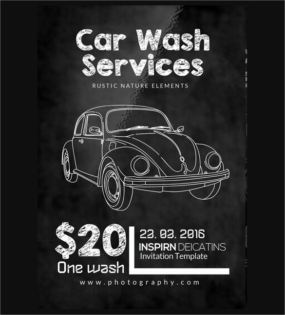 25+ Car Wash Flyers Sample Templates - car wash flyer template