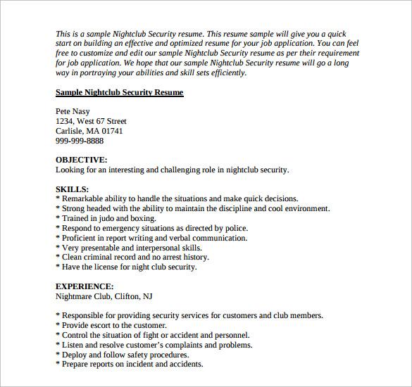 careers resume sample