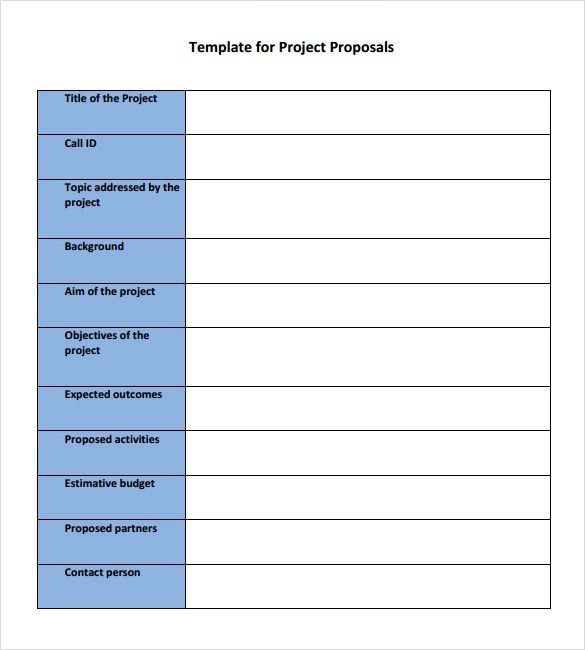 easy proposal template - Elitaaisushi - project proposal template sample