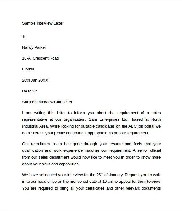letter of request sample format