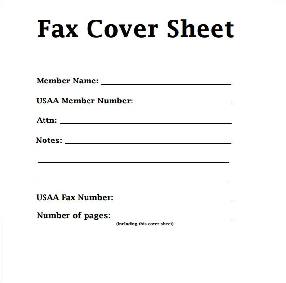 Fax Cover Letter Fax Cover Sheet Templates Template Representation