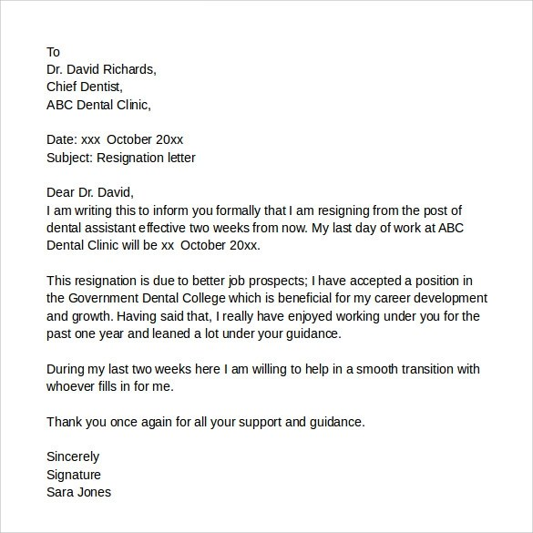 sample resignation letter as teacher sample teacher resignation letter to parents o resumebaking resignation letters 9