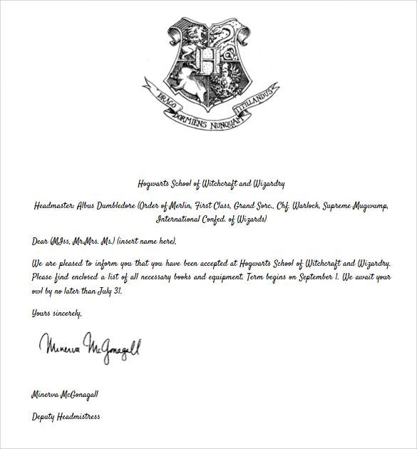 Hogwart letter example good resume template hogwart letter hogwarts wikipedia sample hogwarts acceptance letter 8 download documents in pdf spiritdancerdesigns Choice Image