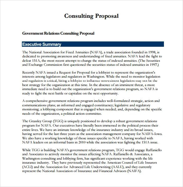 consulting proposal template free - Doritmercatodos