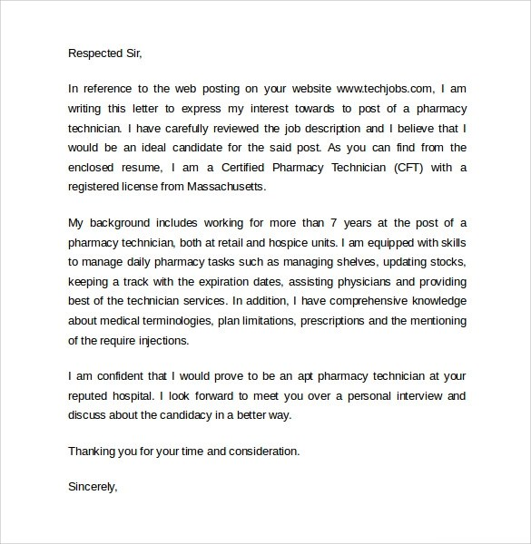 pharmacy technician letter of recommendation example - Ozilalmanoof - cover letter for pharmacy technician