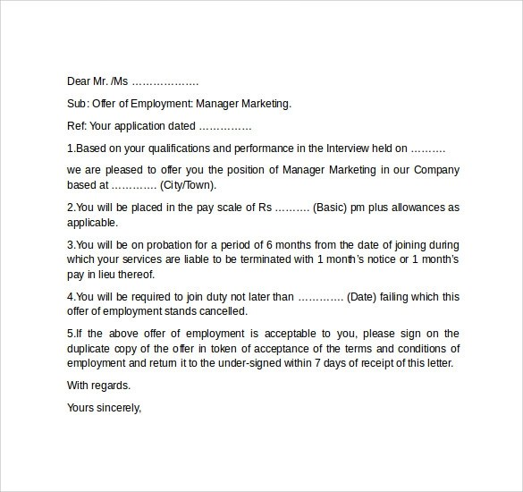 Job Offer Letter Sample For Opt Sample best Resume