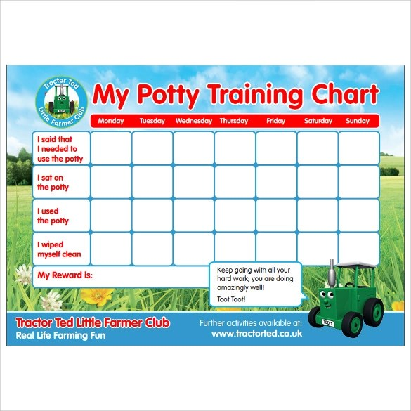 10 Potty Training Charts Download for Free Sample Templates - potty traing chart