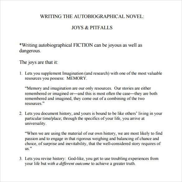 simple autobiography template