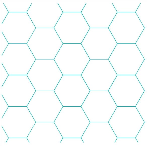 7+ Sample Hexagon Graph Papers Sample Templates - Graph Paper Template