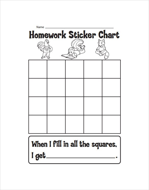 Sample Sticker Chart - 7+ Documents in PDF