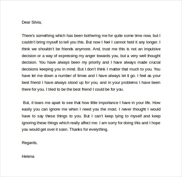Sample Breakup Letter - 9+ Documents In PDF, Word