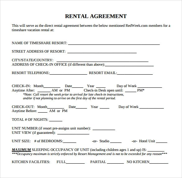 Standard Rental Agreement Standard Commercial Lease Agreement