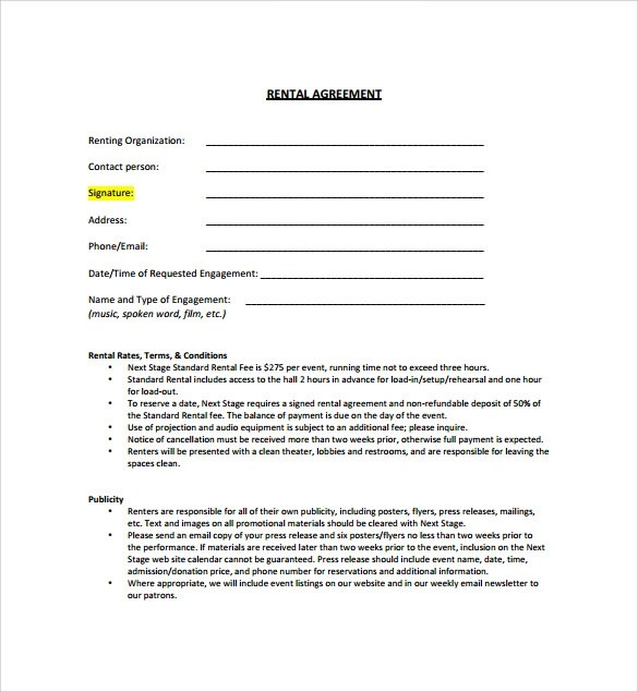 standard lease agreement template datariouruguay - sample standard lease agreement