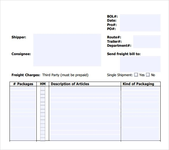 Blank Bill Of Lading Amazon Com Part Vehicle Auto Transport Bill Of