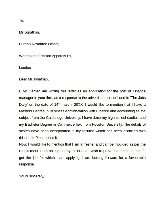 Sample Professional Letter Format - 9+ Download Free Documents In