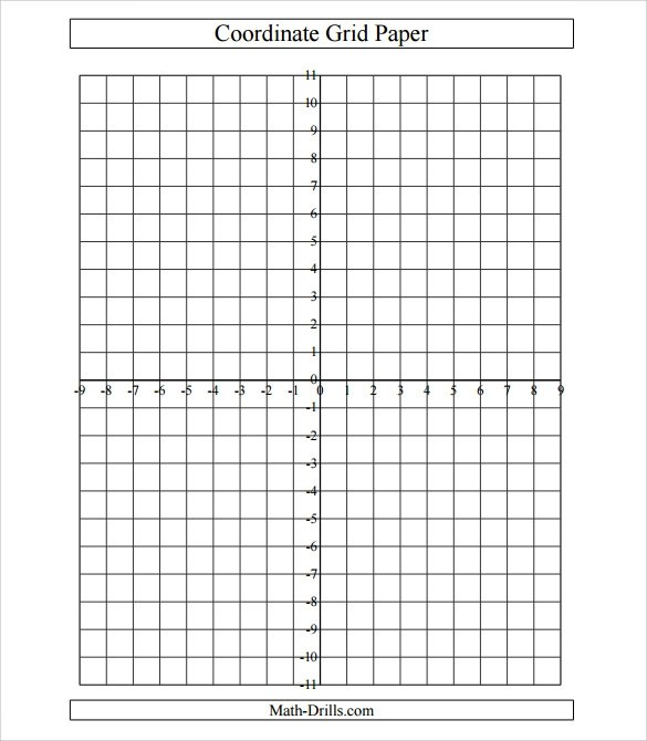 6+ Sample Cartesian Graph Papers Sample Templates - numbered graph paper template