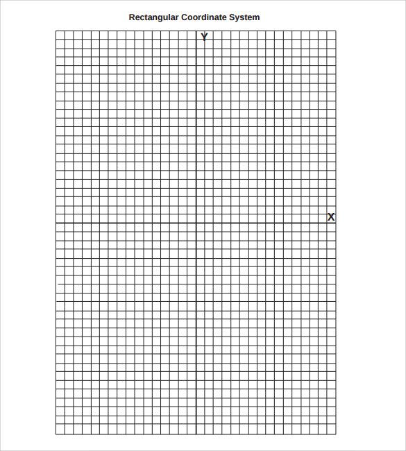 rectangular graph paper template