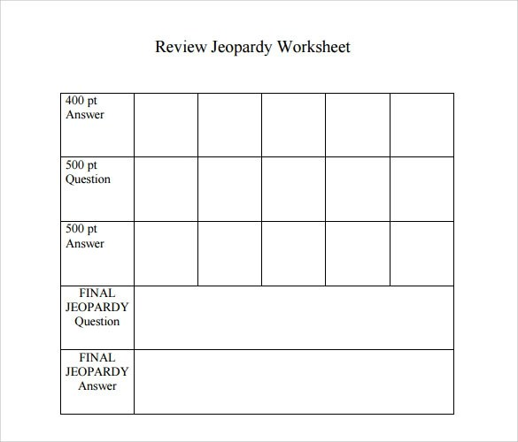 Sample Jeopardy Game Template - 6+ Download Documents in PDF , PPT - sample jeopardy powerpoint