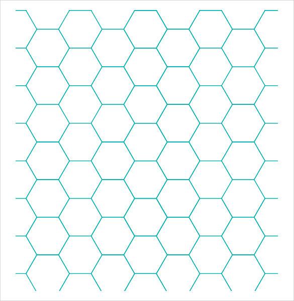 8+ Sample Hexagonal Graph Papers Sample Templates - hexagonal graph paper template