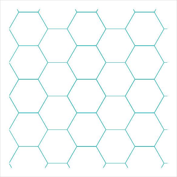 Hexagonal Graph Paper Template hexagonal graph paper template - hexagonal graph paper template
