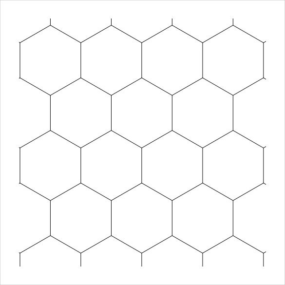 hexagonal graph paper template word - Funfpandroid