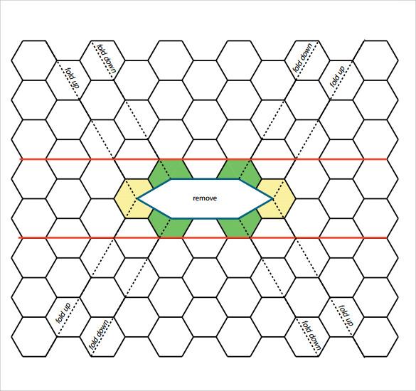 hexagonal graph paper printable