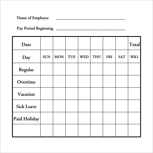 Payroll Timesheet Calculator - 6+ Download Free Documents in PDF - sample payroll timesheet