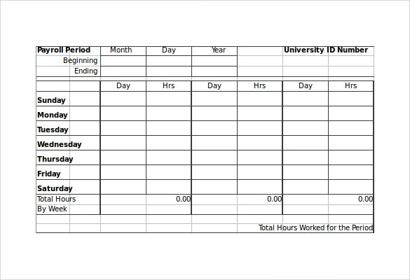 Payroll Timesheet Calculator - 6+ Download Free Documents in PDF - hourly timesheet calculator