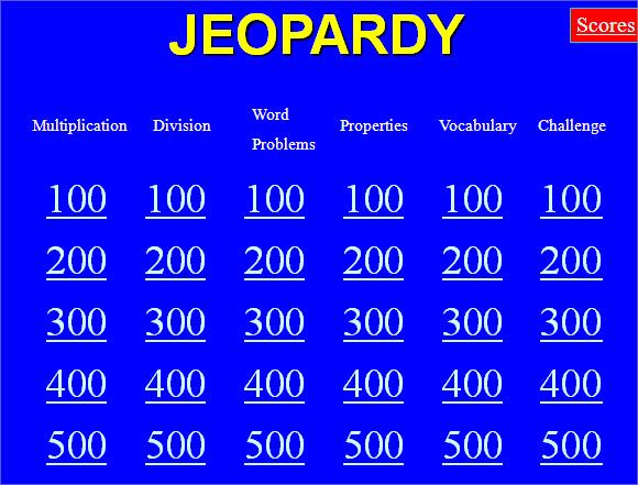 8+ Classroom Jeopardy Templates Sample Templates - classroom jeopardy template