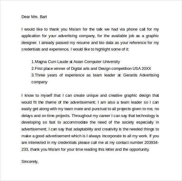 Sample Follow Up Interview Letter- 9 + Download Free Documents In - follow up email after phone call