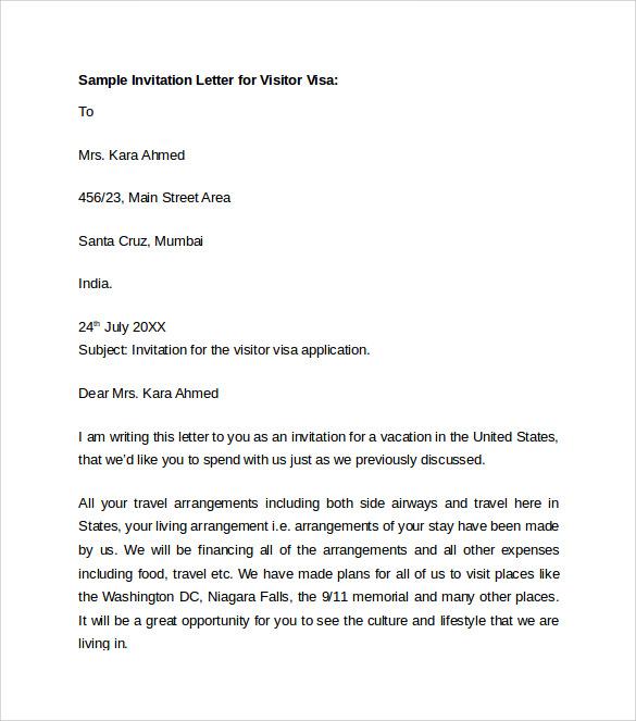 Sample invitation letter tourist visa australia invitationswedd sample invitation letter to visit australia gallery stopboris Image collections