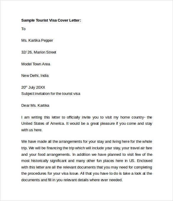 Personal cover letter for visa application College paper Academic - oci cover letter