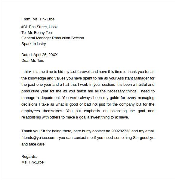 sample goodbye letter to coworkers - Klisethegreaterchurch