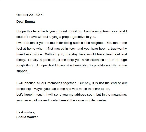 Resignation Letter Example To Coworkers – Resignation Goodbye Letter