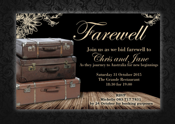 9 Amazing Farewell Invitation Templates to Download Sample Templates