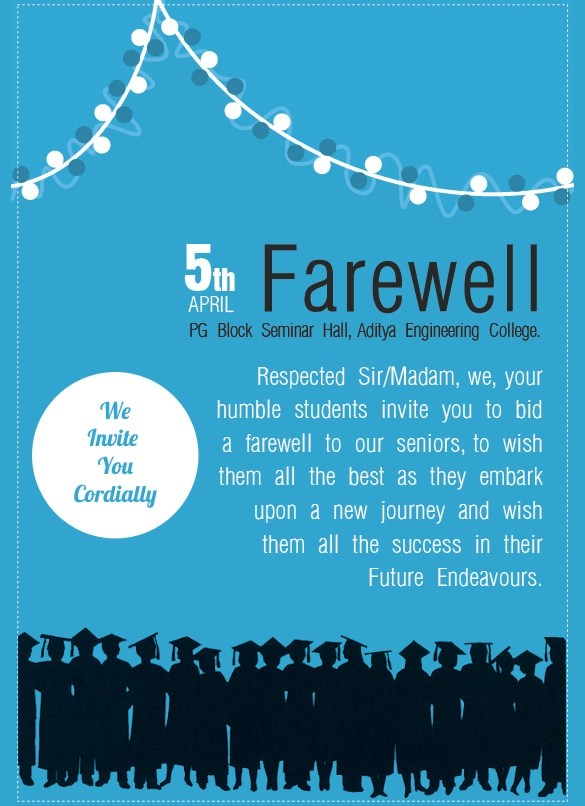 Sample Farewell Invitation Template - 8+ Download Documents in PDF