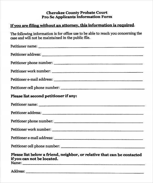9 Temporary Guardianship Form Templates to Download Sample Templates