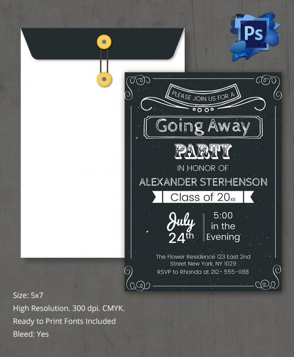 going away party invitation template