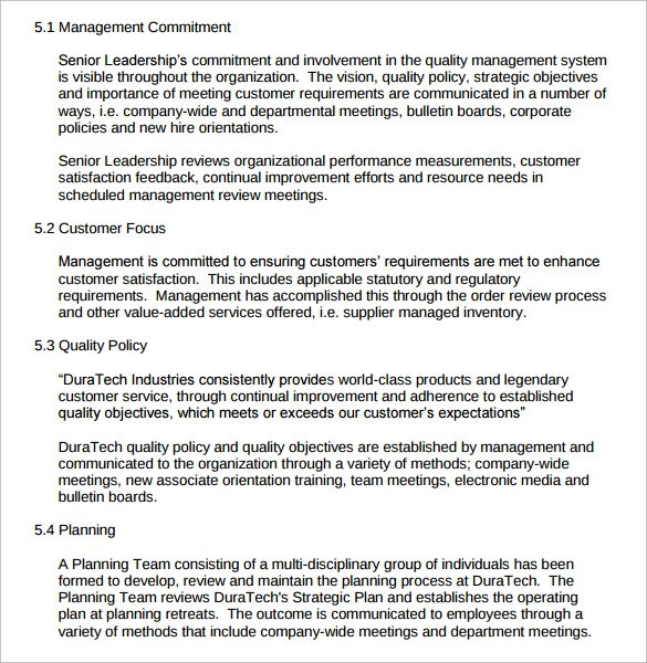 sample operations manual template hitecauto - management review template