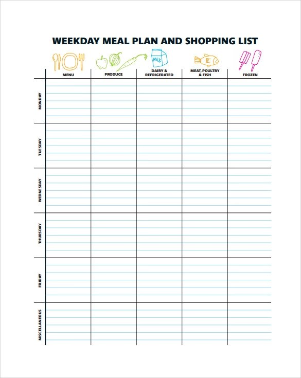10 Sample Menu Planning Templates to Download Sample Templates - menu planning template