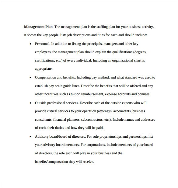 Sample Business Plan - 6+ Documents In PDF, Word - compensation plan template