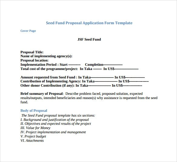 Sample Funding Proposal - 8+ Documents in PDF, Word