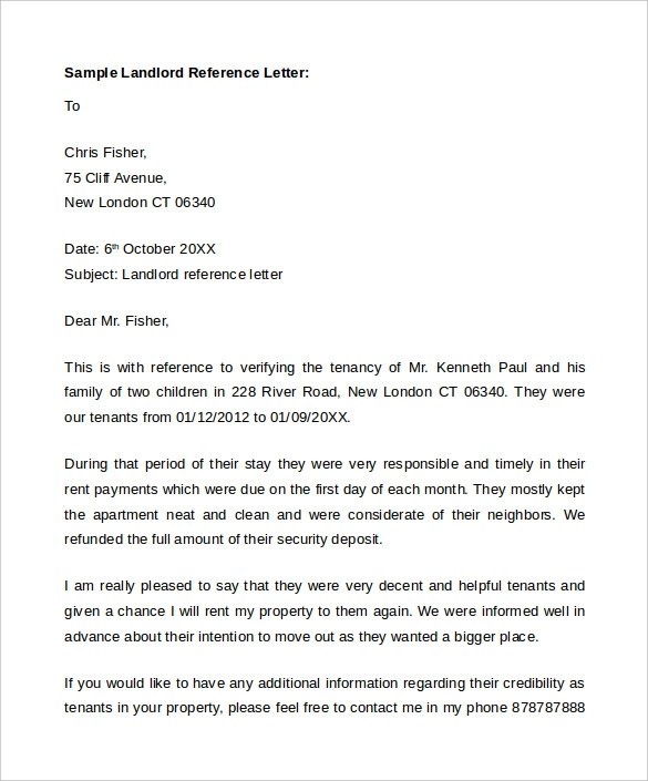 tenant lease termination letters - Amitdhull - landlord reference letter