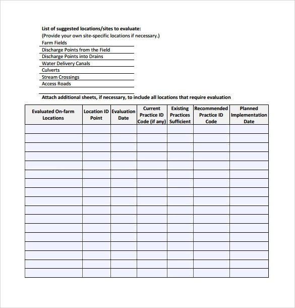 Quality Assurance Plan Template Ms Word 7 Excel Sample Control Plan 6 Documents In Pdf Word Excel