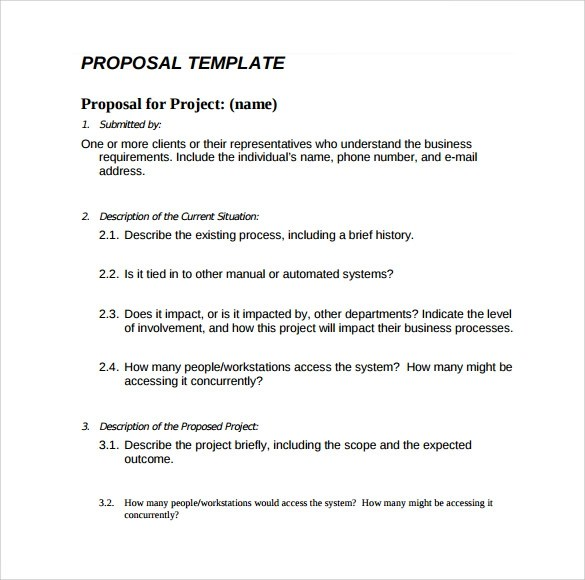 Simple Proposal Template Proposal Template To Download Sample - informal proposal template