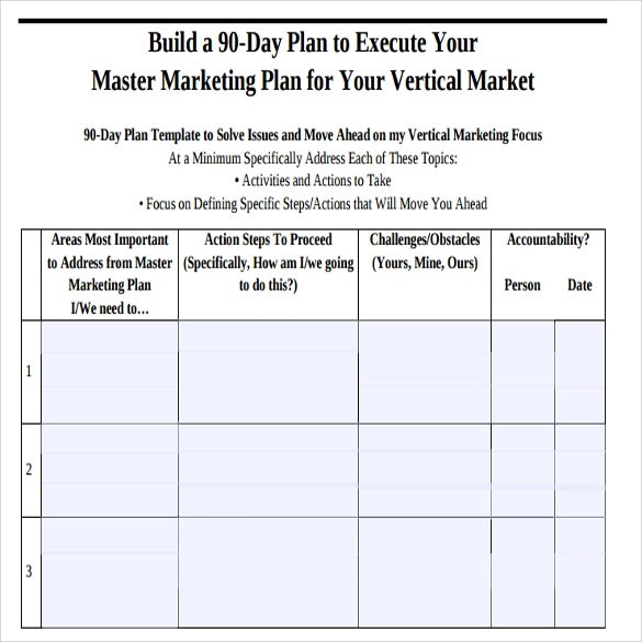 Sample 90 Day Plan - 15+ Documents In PDF, Word