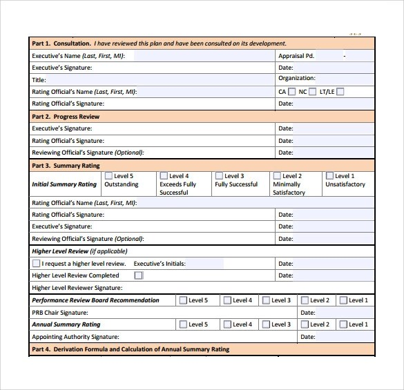 Management Review Template - Resume Template Sample