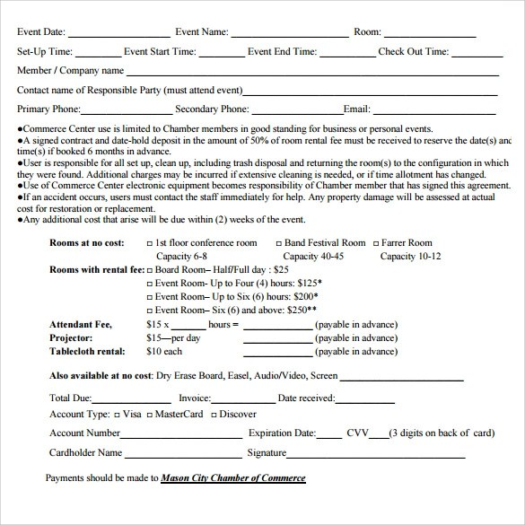Sample Room Rental Agreement \u2013 8+ Free Samples, Examples  Formats